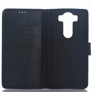 Винтажный чехол портмоне подставка на пластиковой основе с защелкой для LG V10