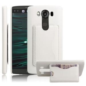 Дизайнерский  чехол накладка с отделениями для карт и подставкой для LG V10