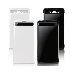 Оригинальный чехол смарт флип на пластиковой нескользящей основе с окном вызова для второго экрана для LG V10