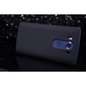 Пластиковый матовый нескользящий премиум чехол для LG V10 Черный
