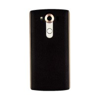 Встраиваемая поликарбонатная крышка с кожаным покрытием, встроенным NFC и функцией беспроводной зарядки для LG V10 Черный