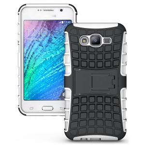 Антиударный двухкомпонентный чехол с поликарбонатной накладкой экстрим защита для Samsung Galaxy J7