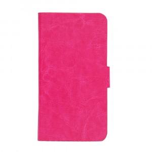 Чехол флип подставка на пластиковой основе с магнитной застежкой для Doogee Valencia2 Y100 Pro Пурпурный