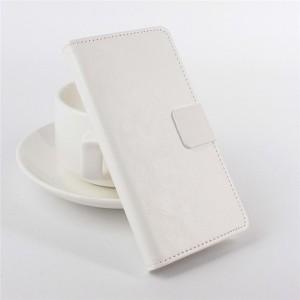 Чехол портмоне подставка на клеевой основе с магнитной застежкой для Doogee Valencia2 Y100 Pro Белый