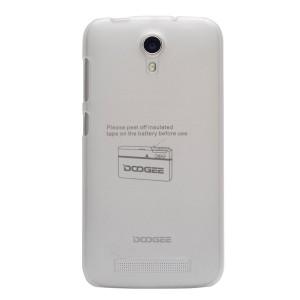 Пластиковый матовый полупрозрачный чехол для Doogee Valencia2 Y100 Pro Белый
