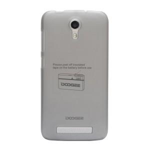 Пластиковый матовый полупрозрачный чехол для Doogee Valencia2 Y100 Pro Серый