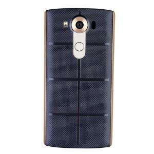 Встраиваемая поликарбонатная крышка с встроенным NFC и функцией беспроводной зарядки для LG V10 Синий