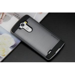 Антиударный гибридный чехол силикон/поликарбонат для LG V10 Серый