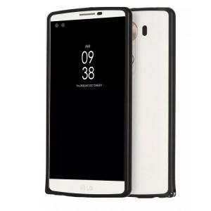 Металлический бампер для LG V10 Черный