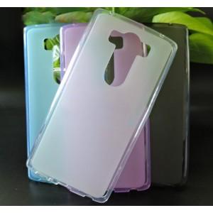 Силиконовый матовый полупрозрачный чехол для LG V10 Белый