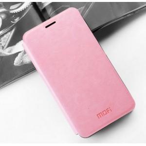 Водоотталкивающий чехол флип подставка на силиконовой основе для Asus ZenFone 3 Zoom Розовый