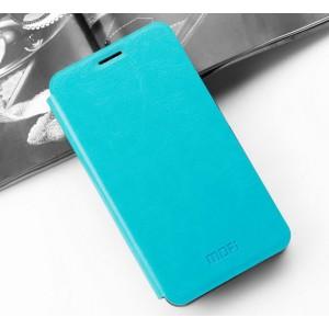 Водоотталкивающий чехол флип подставка на силиконовой основе для Asus ZenFone 3 Zoom Голубой