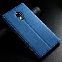 Ультратонкий дизайнерский чехол флип подставка на пластиковой основе дизайн Уголок для Meizu Pro 5 Синий