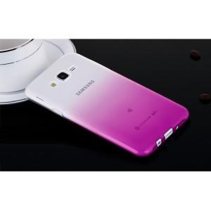 Силиконовый полупрозрачный градиентный чехол для Samsung Galaxy J7