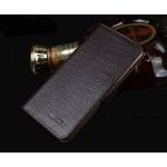 Кожаный чехол портмоне подставка (нат. кожа крокодила) для Meizu Pro 5