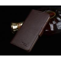 Кожаный чехол портмоне подставка (нат. кожа) для Meizu Pro 5 Коричневый
