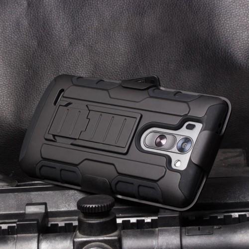 Антиударный гибридный чехол экстрим защита силикон/поликарбонат с подставкой для LG G3 S