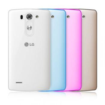 Силиконовый матовый полупрозрачный чехол для LG G3 S