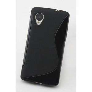 Силиконовый S чехол для Google LG Nexus 5 Черный
