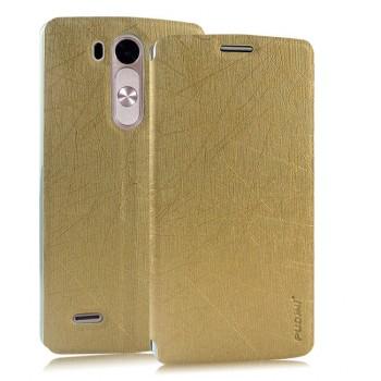 Текстурный чехол флип подставка на присоске для LG G3 S