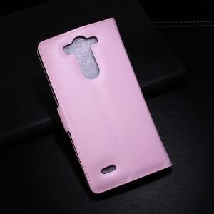 Чехол портмоне подставка с защелкой для LG G3 S Розовый
