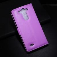 Чехол портмоне подставка с защелкой для LG G3 S Фиолетовый