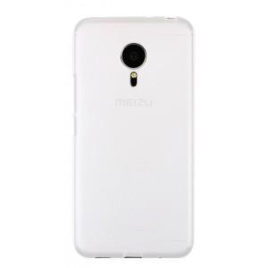 Силиконовый матовый полупрозрачный чехол для Meizu Pro 5 Белый
