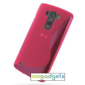 Силиконовый S чехол для LG G3 S Пурпурный
