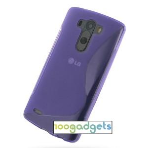 Силиконовый S чехол для LG G3 S Фиолетовый