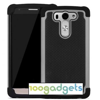 Антиударный гибридный чехол экстрим защита силикон/поликарбонат для LG G3 S