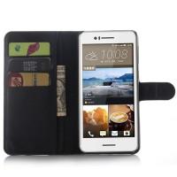 Чехол портмоне подставка с защелкой для HTC Desire 728 Черный