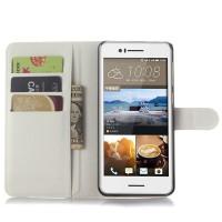 Чехол портмоне подставка с защелкой для HTC Desire 728 Белый