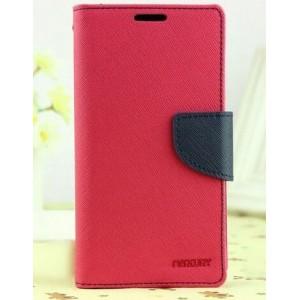 Текстурный чехол портмоне подставка на силиконовой основе с дизайнерской защелкой для HTC Desire 728