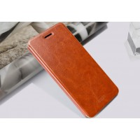 Чехол флип подставка водоотталкивающий для HTC Desire 728 Коричневый