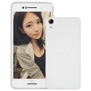Силиконовый матовый полупрозрачный чехол для HTC Desire 728 Белый