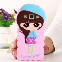 Силиконовый дизайнерский фигурный чехол серия Autumn style для Samsung Galaxy J7 Розовый