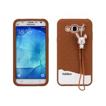 Силиконовый дизайнерский фигурный чехол для Samsung Galaxy J7