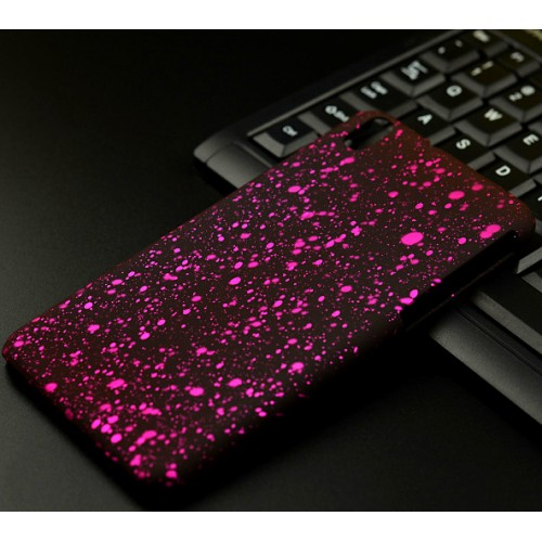 Пластиковый матовый дизайнерский чехол с голографическим принтом Звезды для HTC Desire 816
