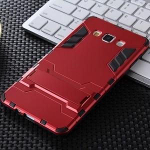Антиударный двухкомпонентный силиконовый чехол с поликарбонатной накладкой и встроенной ножкой-подставкой для Samsung Galaxy J7