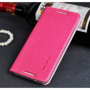 Чехол флип подставка на пластиковой основе с отделением для карт для HTC Desire 816 Пурпурный