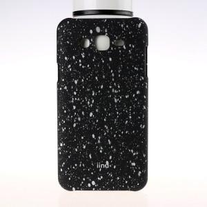 Пластиковый матовый дизайнерский чехол с голографическим принтом Звезды для Samsung Galaxy J7