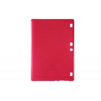Силиконовый глянцевый непрозрачный чехол для Lenovo Tab 2 A10-70/Tab 3 10 Business Красный