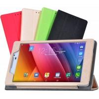 Текстурный чехол флип подставка сегментарный с рамочной защитой экрана для ASUS ZenPad 7.0