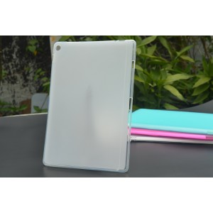 Силиконовый матовый полупрозрачный чехол для ASUS ZenPad 10 Z300/Z301ML Белый