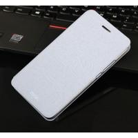 Xехол флип подставка на силиконовой основе текстура Дерево для Meizu Pro 5 Белый