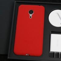 Силиконовый матовый софт-тач премиум чехол для Meizu Pro 5 Красный