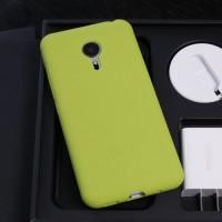 Силиконовый матовый софт-тач премиум чехол для Meizu Pro 5 Зеленый