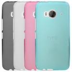 Силиконовый матовый полупрозрачный чехол для HTC One ME