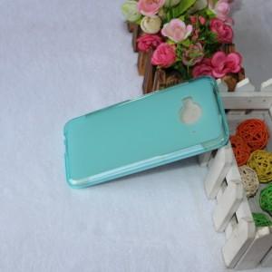 Силиконовый матовый полупрозрачный чехол для HTC One ME Голубой