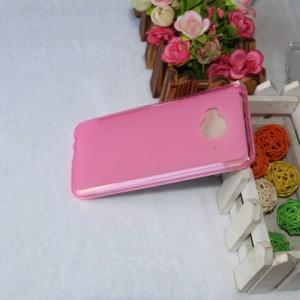 Силиконовый матовый полупрозрачный чехол для HTC One ME Розовый